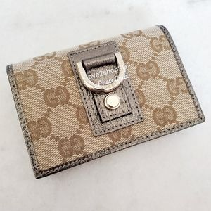 Gucci Abbey GG Monogram Wallet Brown Pewter